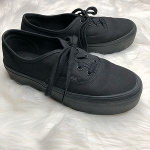 VANS All Black Platform Sneakers